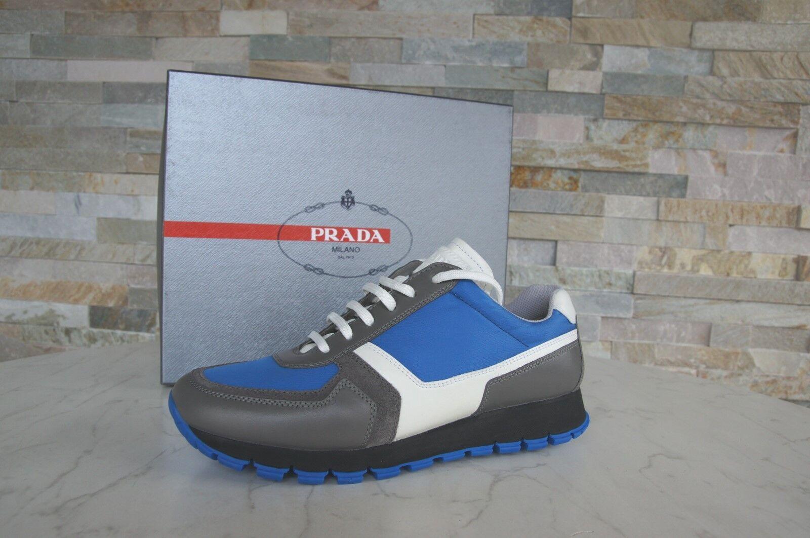 PRADA SNEAKERS n. 39 Scarpe Basse normalissime scarpe shoes grigio-blu NUOVO UVP