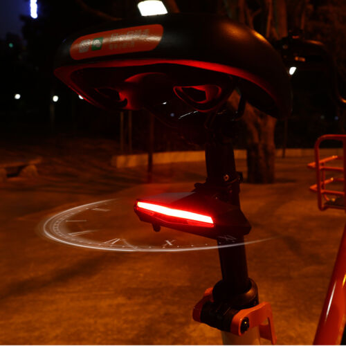 Cycling Bicycle Tail Light Remote Control Turn Signal Waterproof Rechargeable
