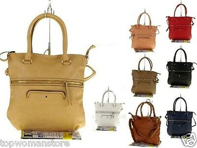 New Designer Large Ladies Handbags Leather Style Tote Shoulder Bag