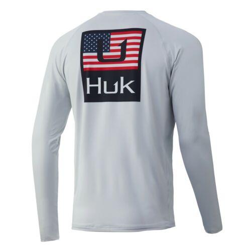 "Details about  /HUK Men's /""Huk/'d Up/"" Americana Pursuit Long Sleeve Shirt H1200298"