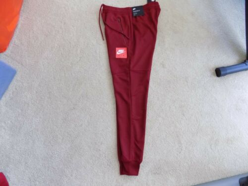 NEW MENS S SMALL NIKE AIR SPORTSWEAR JOGGERS PANTS TRACK TEAM RED WHITE 918326