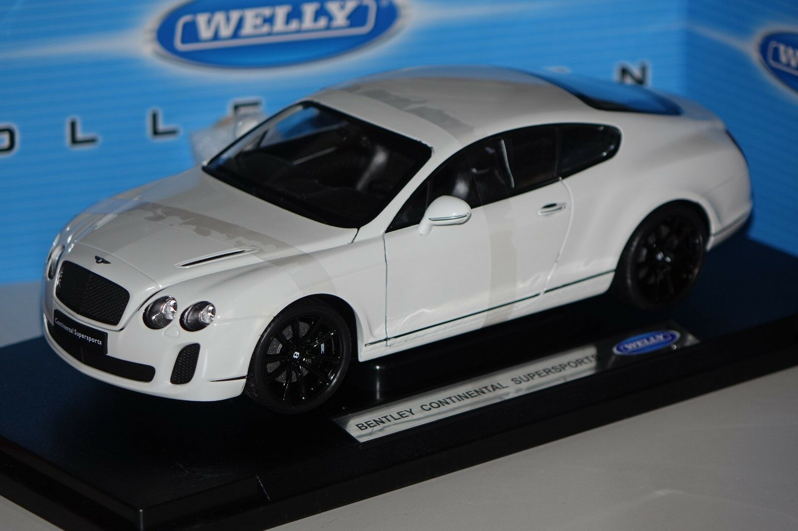 Bentley Continental Super puertos blancoo 1 18 Welly Welly Welly 18038 nuevo & OVP 26255b