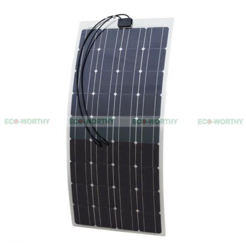 Polykristallin 40W 50W 100W Semi-Flexible Bendable Solarmodule Monokristallin