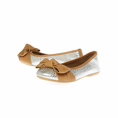 LUX CARVELA KURT GEIGER LEATHER SILVER WOMENS LADIES SHOE