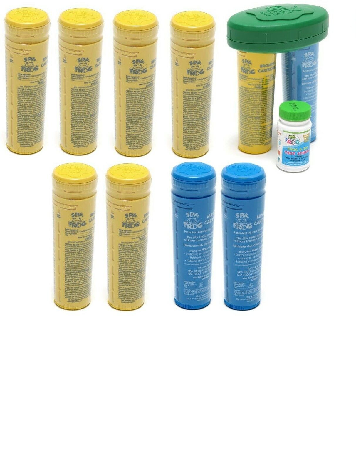 Spa Frog 10 pk 7 Bromine 3 Mineral Float & Test Strips PRIORITY MAIL
