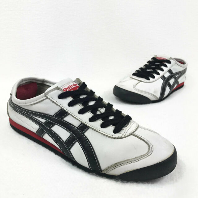 promo code c5119 bd51d Asics Onitsuka Tiger Mexico 66 White/Black/Red Leather Sneakers US 5.5 HL7C2