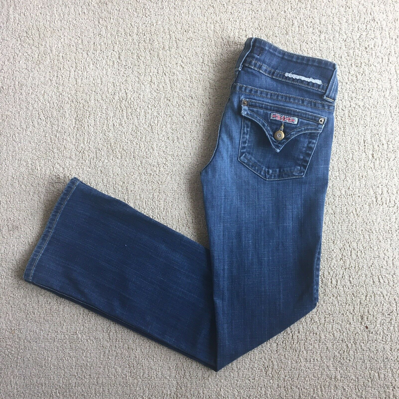 Hudson Low Rise Bootcut Medium Wash Stretch Jeans   Size 26