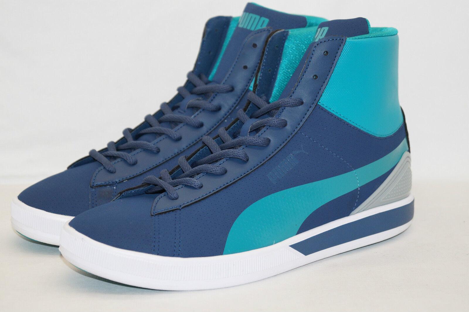 Puma Future Suede Mid Lite Perf taille 44 uk.10, 5 Bleu Très Légère Chaussure