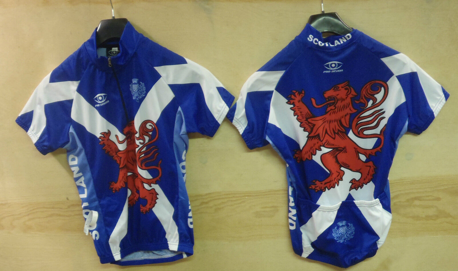 LADIES SCOTTISH SCOTLAND SHORT SLEEVE CYCLING JERSEY SMALL MEDIUM UK P&P FREE