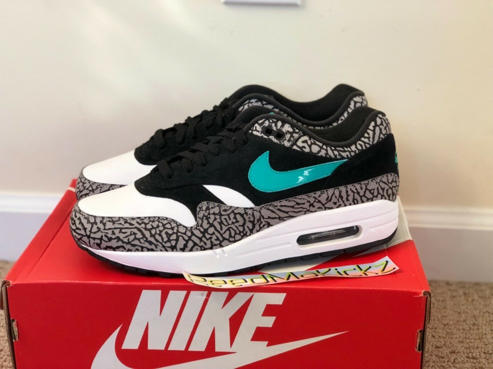 Nike Air Max 1 Premium Retro 2017 Atmos NYC Elephant Mens sizes 908366 001