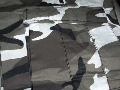 PANTS BDU URBAN METRO CAMO BLACK WHITE TWILL SIZES S,M,L,XL,2XL,3XL