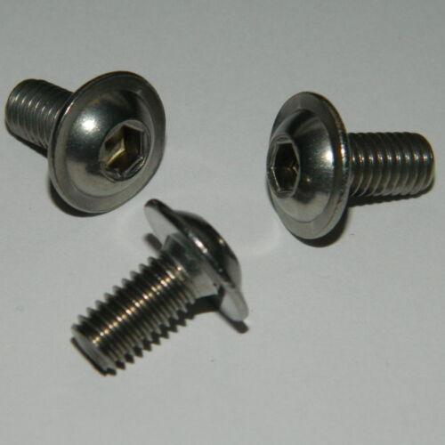 25 Stück Edelstahl A2 Linsenkopfschrauben mit Flansch Gewinde M5x30  ISO7380F
