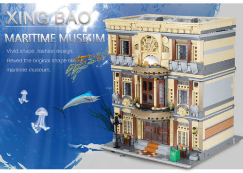 5052Pcs Genuine Creative MOC City Series The Maritime Museum Set Building Blocks