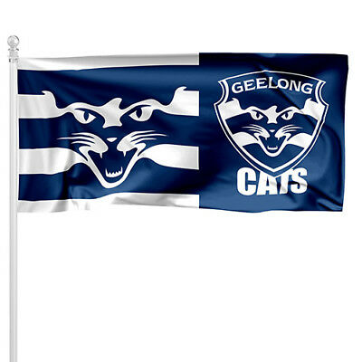 Geelong Cats Afl Pole Flag Large 1800x900mm Bar Gift Pole Not Included Ebay