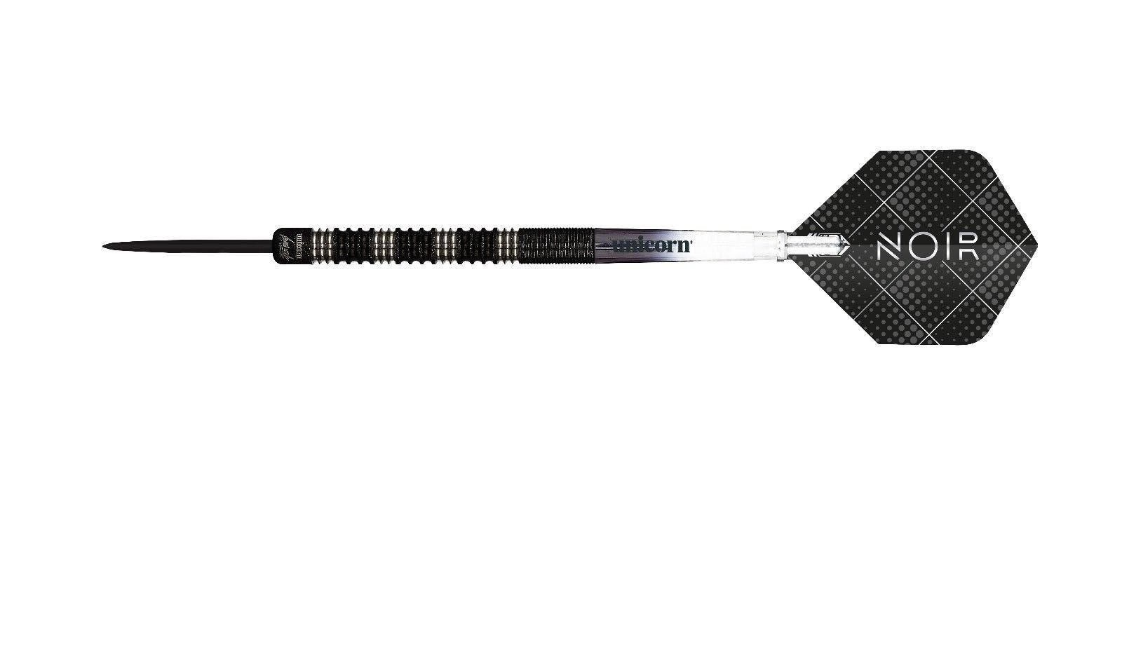 Unicorn James Wade black 90% Tungsten Darts - Available in 20g, 22g & 24g