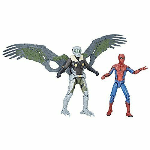 HASBRO Spiderman  Homecoming MARVEL LEGENDS 9.5cm Basic personaggio 2 confezione F S