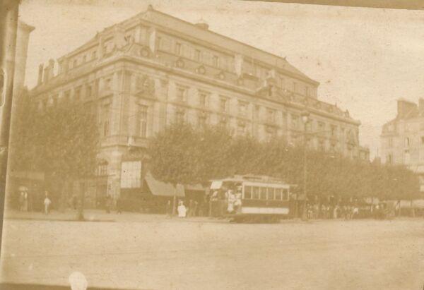 Appris Rouen C. 1900 - Rue Animée Tramway Théâtre Lyrique Seine-maritime - 24