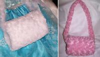 White Child Hand Warmer Muff Kids Wedding Flower Girl Elsa Faux Fur Cinderella