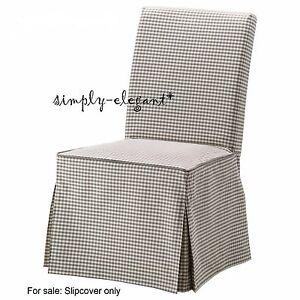 ikea gray check cover for henriksdal chair long slipcover sågmyra