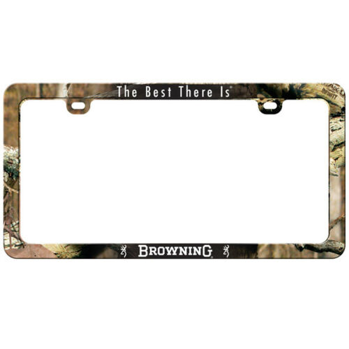 Browning License Plate Frame Infinity Camo