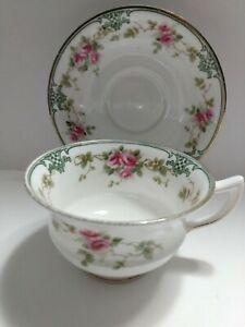 Vintage-Aynsley-Bone-China-Rose-Vine-Cup-And-Saucer-A33715-x