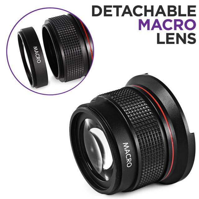 Professional Fisheye Wide Angle Lens Macro Lens 52MM 0.35x for Nikon DSLR