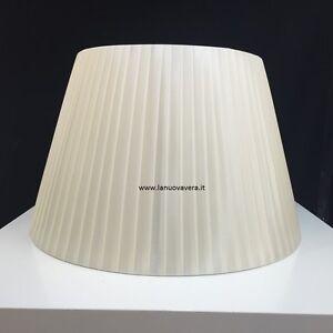 PARALUME-RASO-AVORIO-CHIARO-FASCIATO-45-CM-lampada-piantana-applique-lampadario