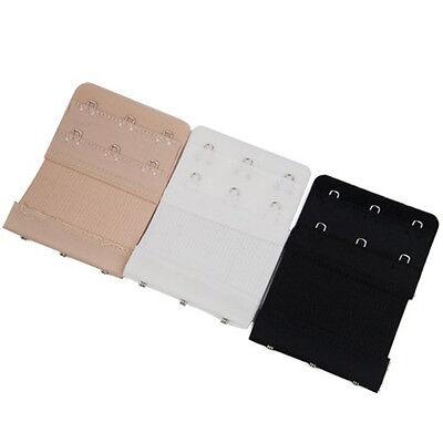 Bra Extender Extension Elastic 2 / 3 Hooks Clip On Strap Soft Bra Band Extenders