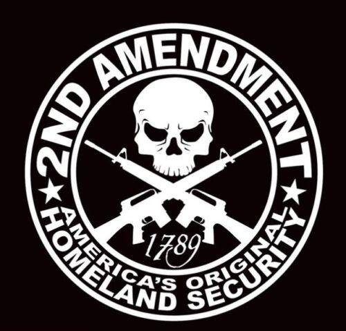 2ND AMENDMENT GUN* vinyl decal sticker Truck Diesel car hunting 9x9 funny