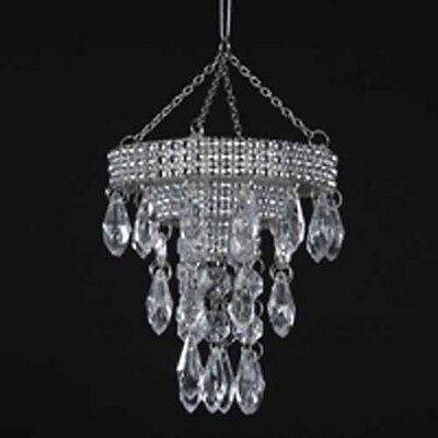 """3.75"""" CHANDELIER with ACRYLIC DROPS ORNAMENT"""