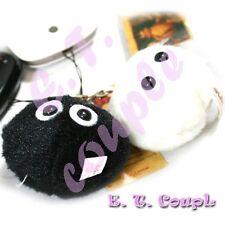 2PC Totoro Kuposuke soot Black/White sprite couple dust plush ball keychain