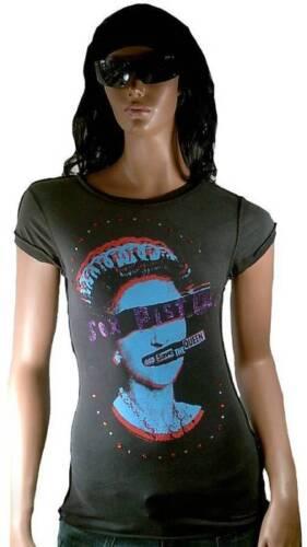 Vip amplificata God Queen Save Sex Punk per Xs Maglietta Star Rock Strass Pistols SxdqRpnP
