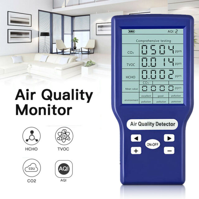 Digital LCD Display Air Quality Monitor CO2 TVOC Analyzer Measuring For Bedroom