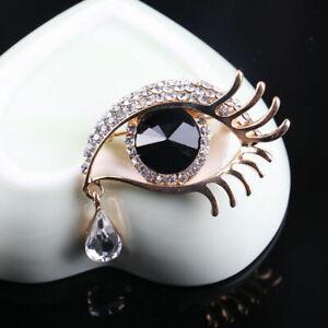 Damen-Modeschmuck-Kristall-Strass-Auge-Brosche-Pin-Zubehoer-R5B1-Brosche-Hoc-C2F8