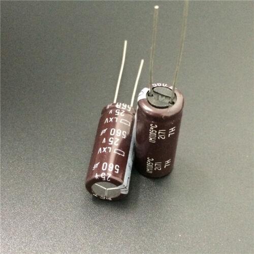 10pcs 560uF 25V NCC Nippon LXV 10x25mm 25V560uF Low impedance Capacitor