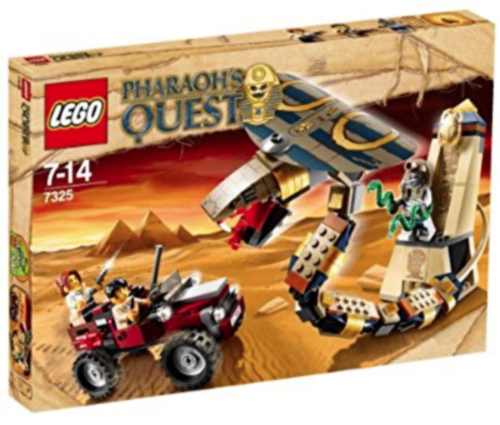 Factory Sealed Rare LEGO Pharaoh's Quest Cursed Cobra Statue 7325. Brand New