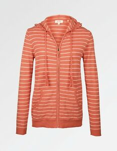 Stripe 100Cotton Orange FaceWomen's Fat Bnwt Steph Hoodie doCBErxeQW