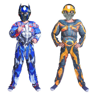 Bumblebee Costume Full Set Halloween Jumpsuit Kids Transformers Optimus Prime