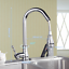 thumbnail 2 - ORB/Chrome/Brushed Kitchen Sink Pull Out Swivel Mixer 2 Water Way Faucet Taps