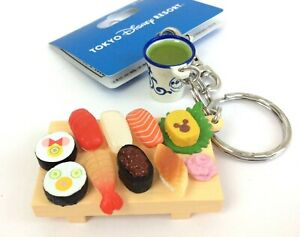 Tokyo-Disney-Resort-Mickey-Mouse-SUSHI-plate-Keychain-Free-shipping-from-JAPAN