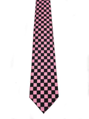 "KoooL Classic Multi-Colored Checker Polyester Neck Tie Narrow 3/"" Wide"