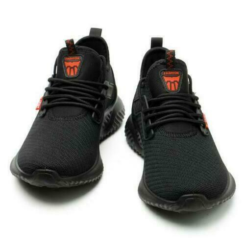 Summer Black Safety Shoes Men Steel Toe Work Trainers Lightweight Sport Shoes H1