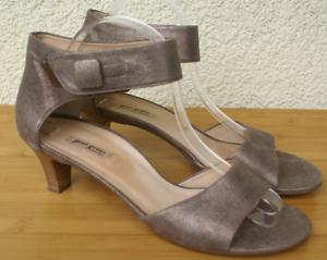 the best attitude dd1aa f3e65 Details zu PAUL GREEN Sandalette Sandale Echtleder taupe gold Gr. 41 UK 7,5  wie NEU