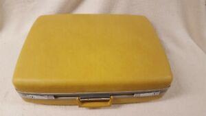 Royal Traveller Traveler Vintage Suitcase Yellow no key VTG Samsonite Tourister