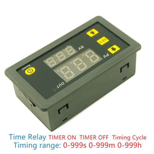 DC 12V 20A Digital Display Time Delay Relay Timing Timer Cycling Module 0-999 ZH