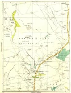 Art Europe Maps Lancs.clowbridge,dunnockshaw,loveclough,goodshaw Reservoir,burnt Hill 1935 Map