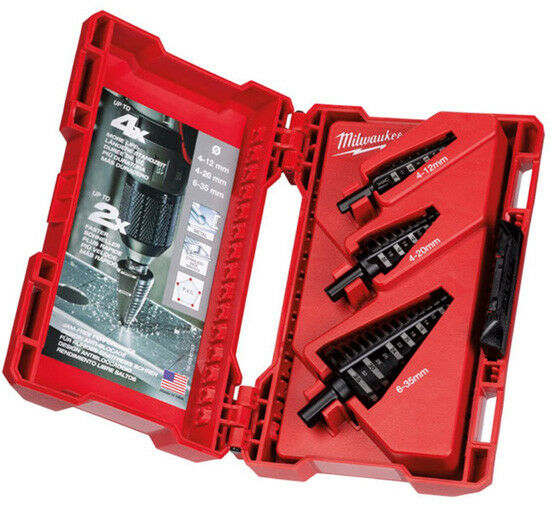 Milwaukee Step Drill Set - 3pc 48899399