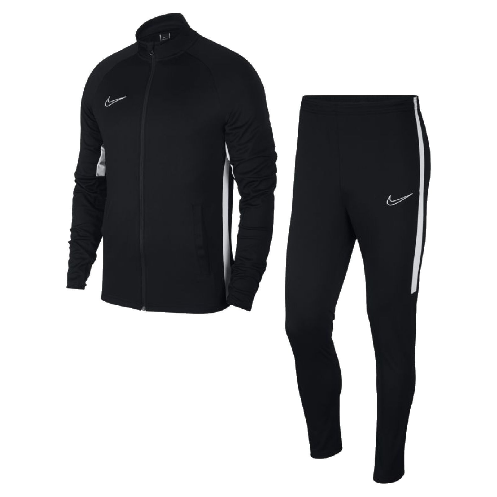 Nike señores fútbol chándal dri-fit Academy olimpica negro blancoo   gran descuento