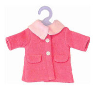 Corolle 14 Miss Corolle Coat - Hot Pink For 14 Dolls Clothes Jacket Hanger