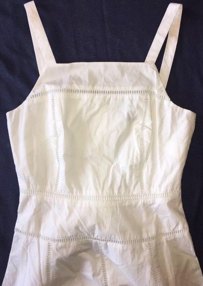 J J J Crew Collection Dress 0 Poplin Pinafore White Cotton f1119  198 NWT 9c6c14